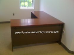 office depot L shaped desk assembly service in Baltimore MD