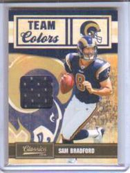 2010 Classics Team Colors Jersey Sam Bradford #008/299 Rookie