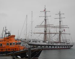 Rosslare Harbour Lifeboat and Stravos S Niachos