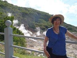 Jan at the sulphur springs