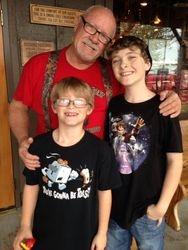 Steve Hooks and grandkids