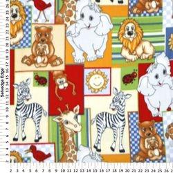ZOO ANIMAL PATCHES B43 - FLEECE