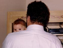 Jake on Dad's shoulder
