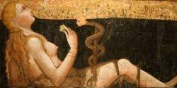 Carlo da Camerino, Madonna of Humility and Eve, c. 1400, Cleveland