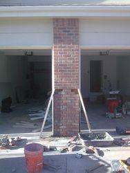 Demo and rebuild Damaged lower half of pillar