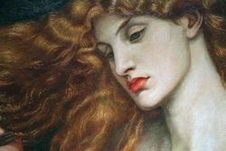 Rossetti, Lady Lilith, detail, WilmingtonAC web
