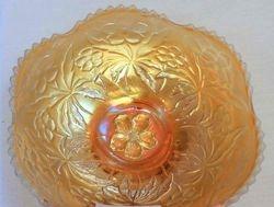 Carolina Dogwood bowl, marigold, by Westmoreland
