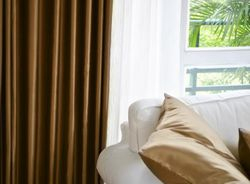 Luxury Fine Coffee Silk Satin  Blackout Curtains Panel ?Pinch Pleat 25W X 96L