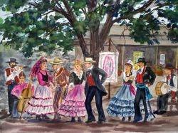 Early California Dancers at the Dana Adobe