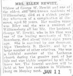 Hewitt, Ellen Riley 1907
