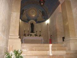 Interior Iglesia del Monte Tabor