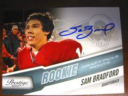 2010 Prestige Rookie Autograph Sam Bradford 001/199