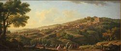 Vernet, Palazzo Farnese at Caprarola, 1746, Philadelphia