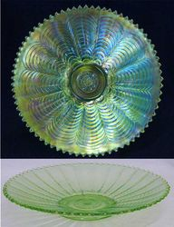 """Nippon 9"""" plate with ribbed back - ice green"""