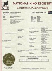 NKR Registry Certificate