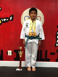 06/7/2015 Metro Open TKD Championship  Jean Peter Espejo  1st Place Forms  2nd Place Breaking 1st Place Sparring