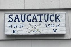 Saugatuck Rowing Club sign