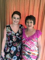 mother and daughter ready for a beautiful wedding