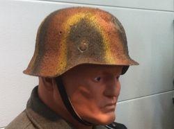 Heer Helmet, Sprayed Camo Pattern.