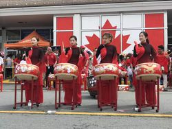 Canada Day drumming