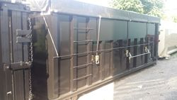 40 Yard with sealed gate & roll-over tarp system