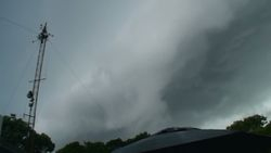 THUNDERSTORM WALL APPROACHES TOWER