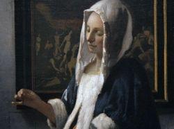 Vermeer, Wom,an with a Balance, detail, Washington