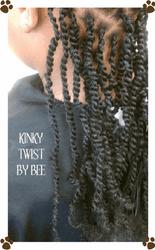 Kinky Rope twist w/ Kinky hair extensions