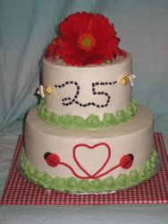 25th Wedding Anniversary Picnic Cake