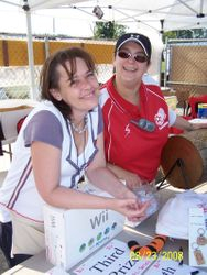 Ann and Lisa hard at work