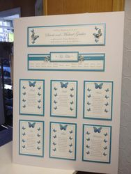 Butterfly Table Plan Turquoise