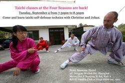 Johan Duquet enseñando Taiji en Shanghai