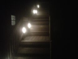 Outside multi level and level lite decking and stairs
