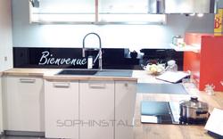 Crédence décorative pour cuisine d'exposition