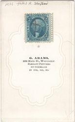 G. Adams, photographer of Worcester, Massachusetts - back