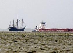 Columbus sails Bird Island