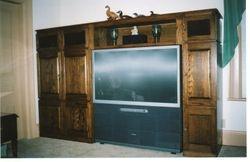 Oak entertainment unit