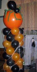 Halloween -- Balloon Column with Balloon Spider