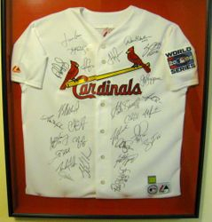 St Louis Cardinals 2006 World Series Autographed Jersey