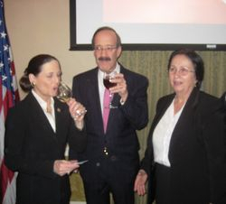 Congresswoman Jean Schmidt, Congressman Eliot Engel with Engjellushe Luzaj