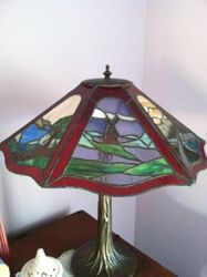 6 Sided Red Lamp Windmill