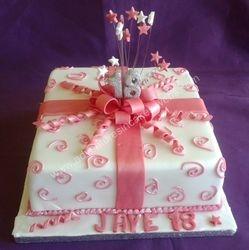 18th present birthday cake