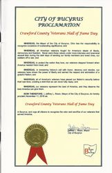 City of Bucyrus Proclamation