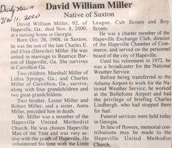 Miller, David William 2000