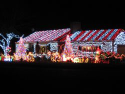 House Lit Up