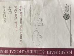 Eric's autograph