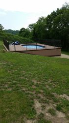 Above Ground Pool Deck, Skirting & Fencing Complete 6