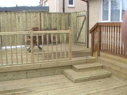 Decking and Timber Fence