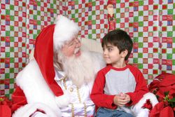 Santa's new friend in 2007