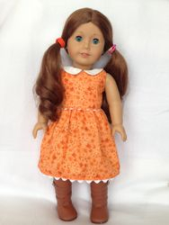 Orange doll dress